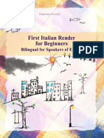 First Italian Reader for Beginners  Bilingual for Speakers of English Beginner Elementary (A1 A2)