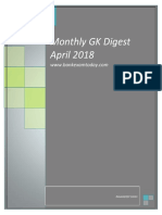 Monthly GK Digest April 2018