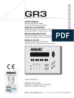 Aermec GR 3 User Manual Eng