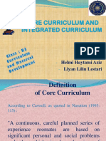 Core Curriculum and Integrated Curriculum