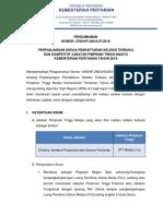 Pengumuman Seleksi JPT Madya Gel III & IV - 3 Juli 2018 Perpanjangan Kedua PSP Tayang
