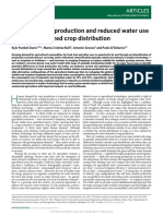 Increased Food Production and Reduced Water Use Through Optimized Crop Distribution