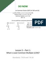 Lesson 5 - Part 1