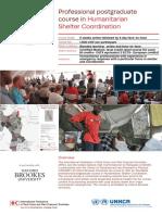 Flyer Shelter Coord Course en 2018 Q3