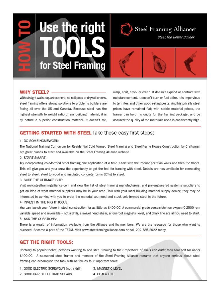 HowToUseRightTools.pdf | Framing (Construction) | Drill