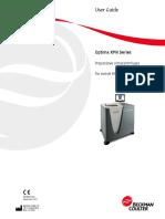 Manual de usuario Optima xpn