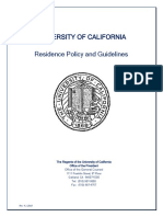 University of Californis Residence Policy