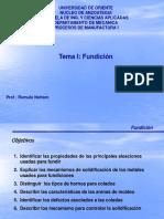 Presentación Del Tema I, Fundición