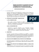Proyecto de Ordenanza Que Modifica e Incorpora Articulos e Infracciones Administrativas de La Ordenanza Nº 053