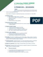 Promocion Secundaria 2018