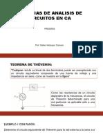 Teoremas de análisis de circuitos en ca