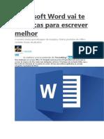 Microsoft Word Vai Te Dar Dicas Para Escrever Melhor