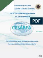 Serv. Ginecología - Pae Cesárea