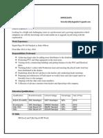 HDFC Resume