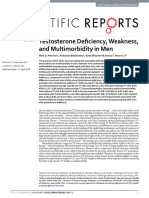 Testosterone Deficiency, Weakness, And Multimorbidity in Men