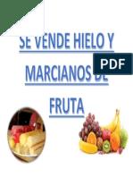 Se Vende Hielo y Marcianos de Fruta
