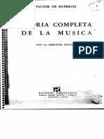 Teoria de La Musica Víctor de rubertis