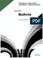 politicas culturales en bolivia