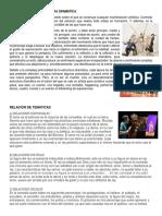 Creación de Una Estructura Dramática, Relaciones de Tematicas, Produccion, Presentacion de Un Montaje Teatral