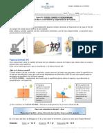 Guía #12 FUERZA TENSIÓN Y FUERZA NORMAL