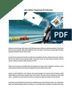 Web Poker Online Terpercaya Di Indonesia