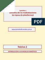 Teorico2 Semiotica Intro a Los Modelos Semioticos 2018