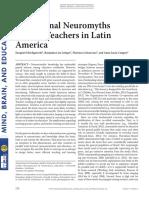 Educational Neuromyths Among Teachers in Latin America