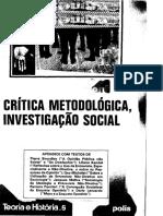 Critica Metodologica Investigacao Social