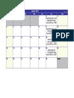 Cronograma Inventarios Junio-2017