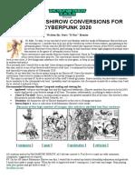 Cyberpunk 2020 - Datafortress 2020 - Shirow Punk Conversions.pdf