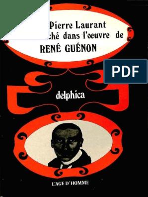 Jean Pierre Laurant Le Sens Cache Dans L Oeuvre De Rene