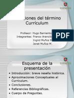 Acepciones de currículum 1