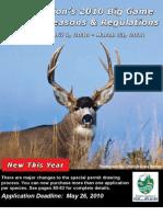 Washington 2010 Big Game Hunting Seasons & Rules