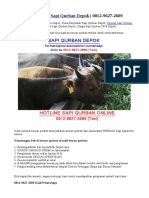 Tempat Penjualan Sapi Qurban Depok   0812-9627-2689