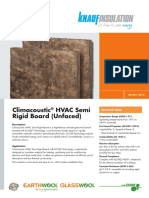 Climacoustic® HVAC Semi Rigid Board - Acoustic Insulation
