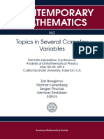 Topics in Several Complex Variables First Usa Uzbekistan Conference Analysis and Matematical Physics May 20-23-2014 California State University Fullerton CA