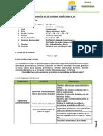 Planificación de La Unidad Didáctica n01- Ingles - Primero
