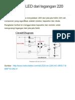 Menyalakan LED Dari Tegangan 220 VAC _ Elektrologi