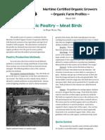 Organic Poultry - Meat Birds