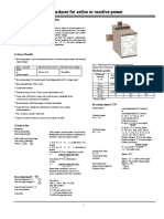 transducer active and reactive power