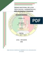Mercados de Competencia Imperfecta en La Realidad Del Ecuador