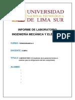 Laboratorio 3.5 Medicion de La Potencia Termica a Sustraer Para Refrigeracion Del Aire Comprimido