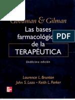 GOODMAN & GILMAN Bases Farmacológicas Terapeuticas 11ed