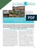 Informe Investigacion 1. Innovacion Social Colectiva Para El Desarrollo Humano