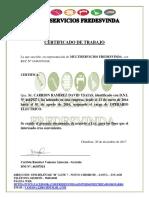 Electricos Certifcado de Trabajo