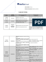 Plano de Tutoria Projeto Integrador i