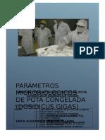 Parametros Microbiologicos de Pota Congelada