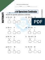 Ficha de Ejercicios de Operaciones Combinadas Para Primero de Primaria (Reparado)