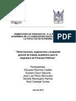 Propuesta Finanzas Publicas