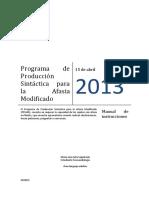 Programa de Produccion Sintactica Para La Afasia Manual